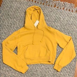 John Galt Brandy Melville cropped sweatshirt hood
